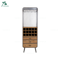 Home Decor Solid Wood Storage Wine Cabinet Living Room Furniture