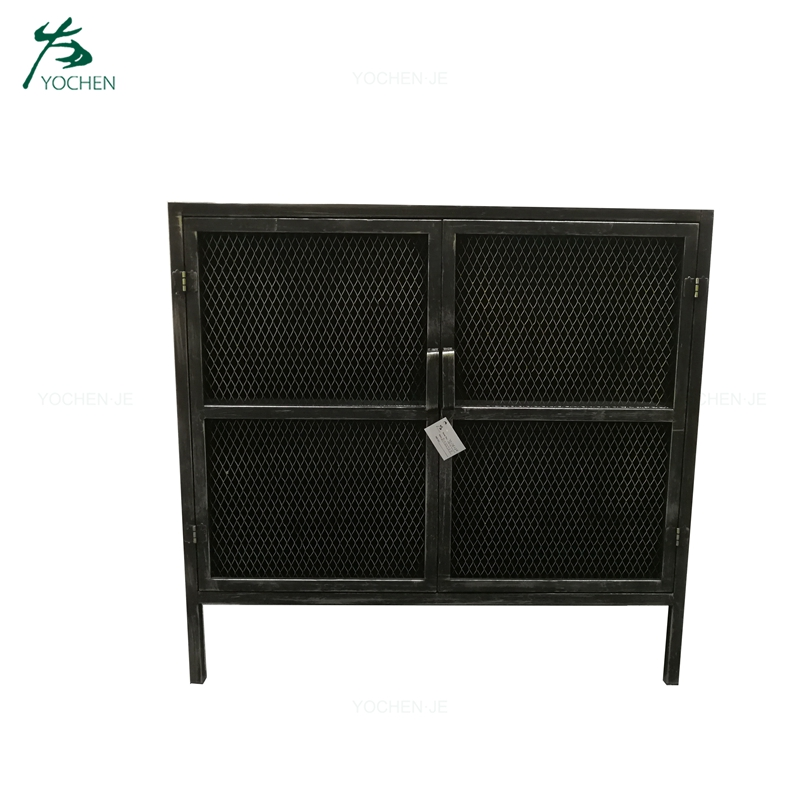 Industrial style narrow metal tall storage cabinet with drawers