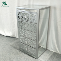 New style nice carved mirrored furniture wholesale wooden chest