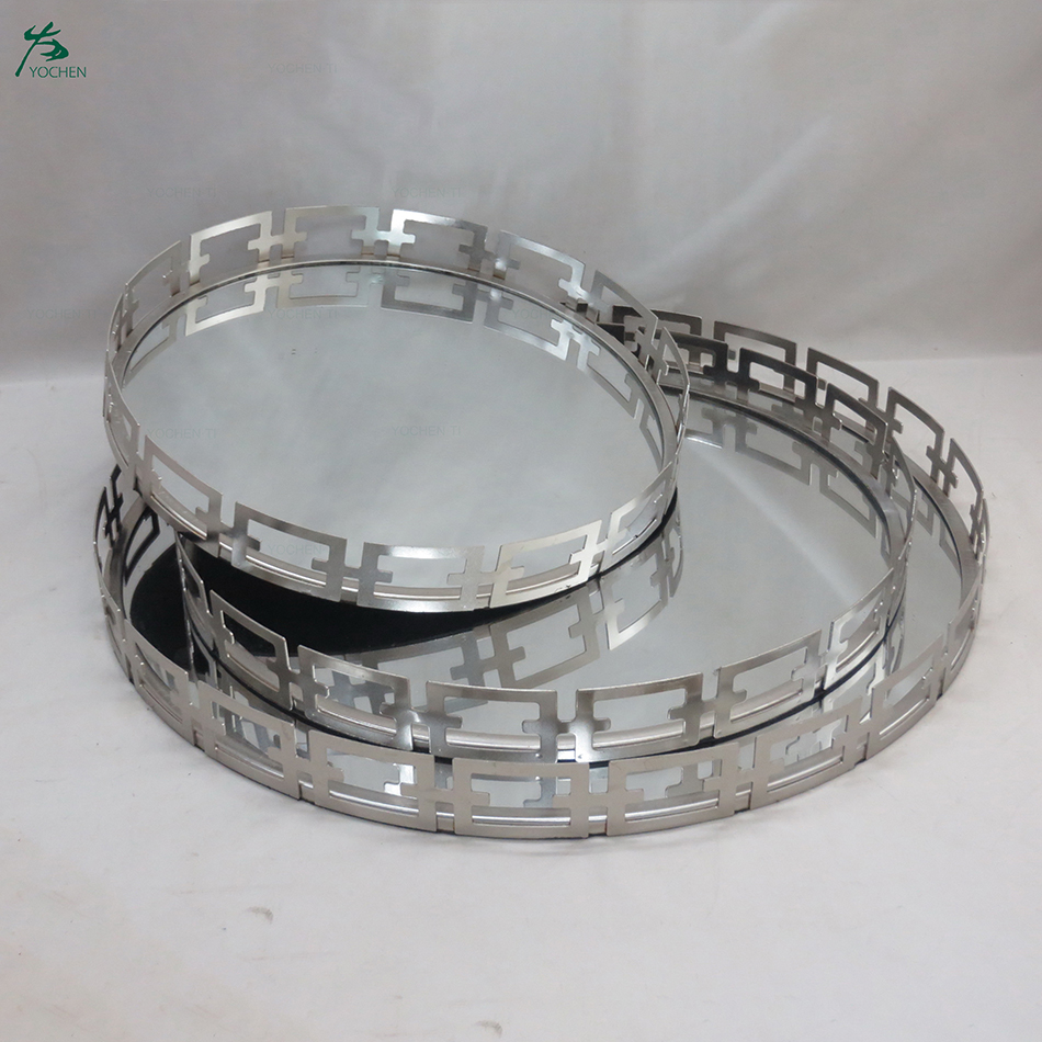 Set of 3 Links Round Trays Design Serving Tray