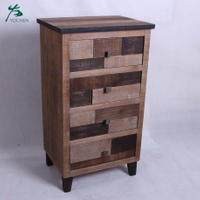 European style living room furniture natural color MDF storage cabinet