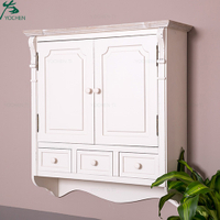 Shallow bathroom wall cubboard wood wall cabinet design