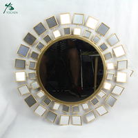 Modern Decorative Metal Frame Mirror Sun Wall Mirror