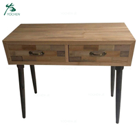 Europe style solid wood console table living room furniture