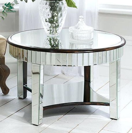Great Mirror Contemporary Living Room Furniture Modern Mirrored Coffee Table