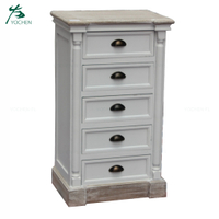 New Arrived Attractive wooden cabinets noble white tall boy