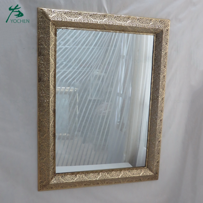 Metal framed antique silver large wall mirror