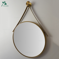 round gold mirror custom made bathroom Interior vestibule wall mirror