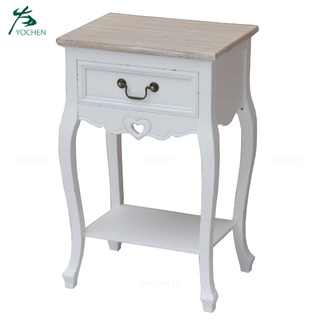 Modern italy furniture luxury white wooden side table