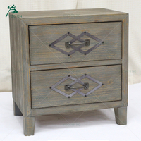 bedroom furniture rustic antique wooden nightstand bedside cabinet