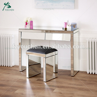 mirrored furniture with mirrored stool mirror dresser desk