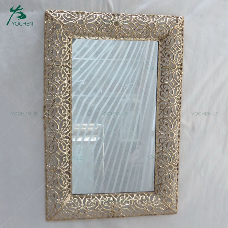 Decorative regular shaped wall silver glass hairdressing mirror