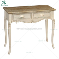 Shabby chic Old White Wooden Console Table Living Room Furniture