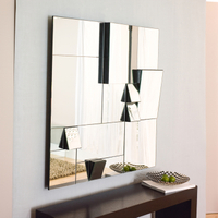 Oblique several angled mirrors wall decorative mirror