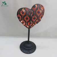 Hollow Heart Shaped Tealight Holder Hang Wire Candle Holder