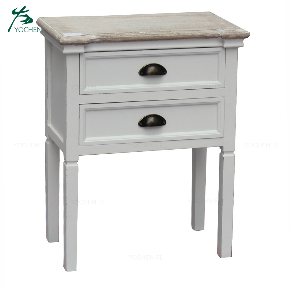 European style wash white wood corner cabinet living furniture