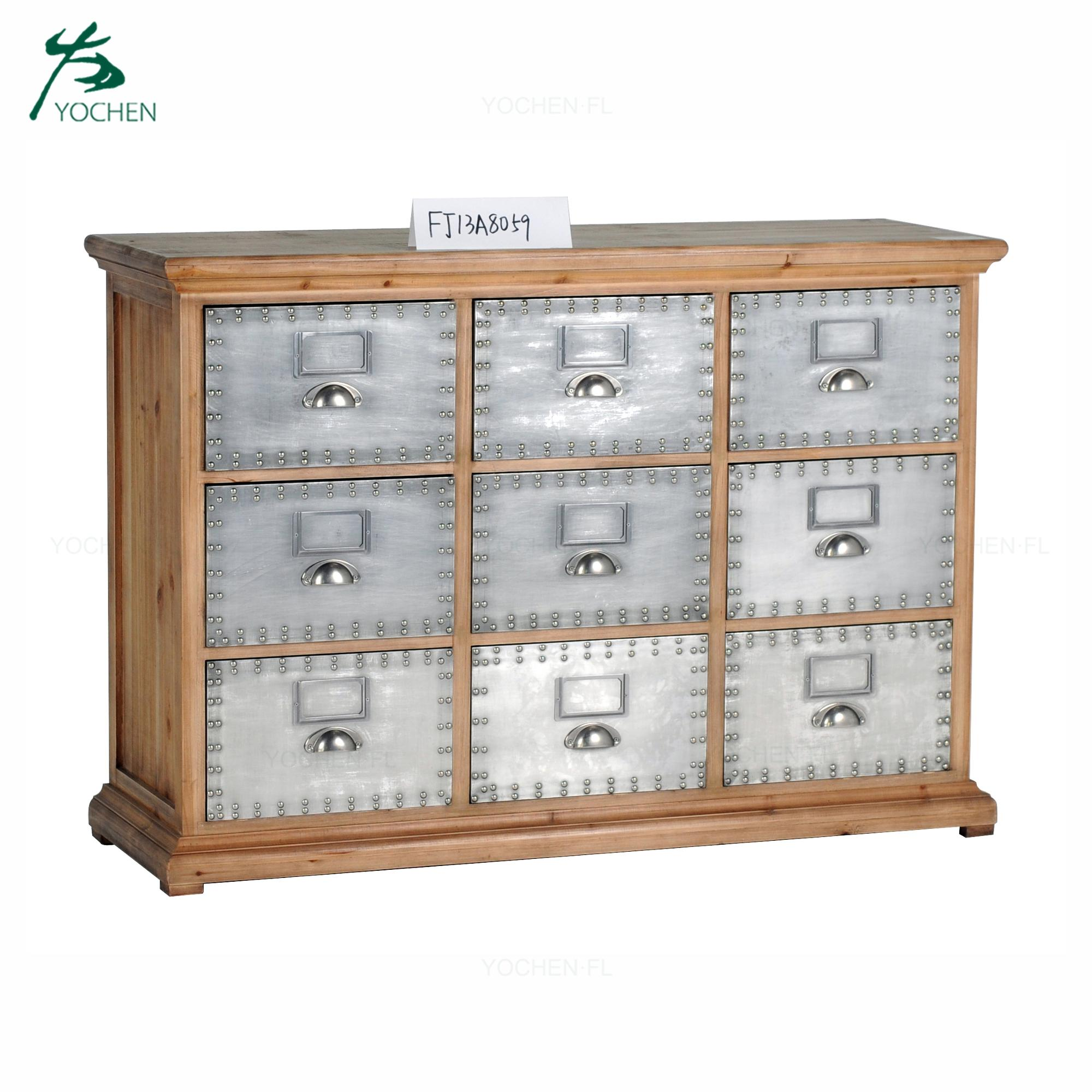 modern home furniture decorative wood cabinet small drawer