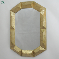 Venetian Design Decorative Mirror With Metal Gold Frame