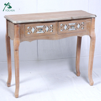 nice wood carving wood antique mirror console table