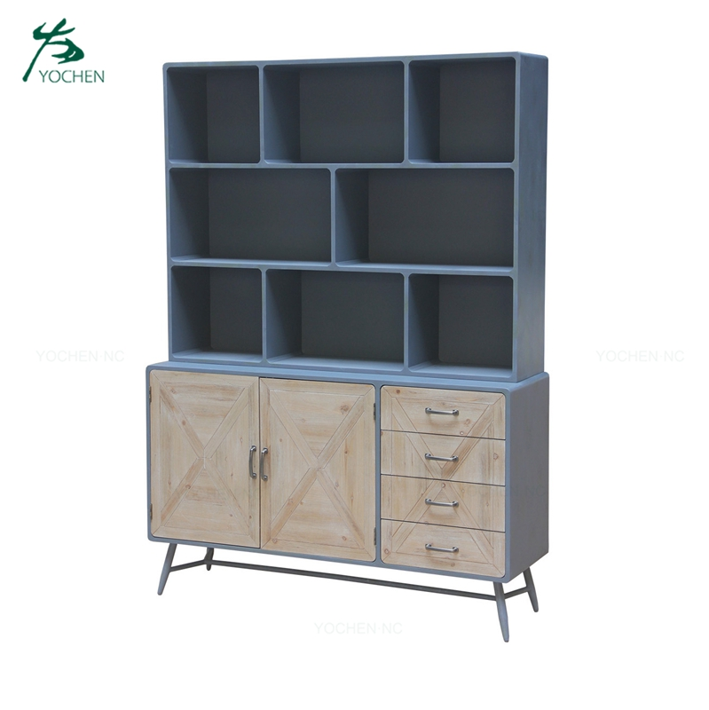 Industrial living room divider cabinet designs wood furniture