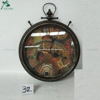 Industrial Vintage Round Clock Home Decoration