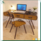 industrial furniture solid wood with metal legs children table and chairs