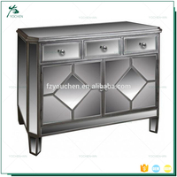 Living Room Furniture Antique Style 3 Drawer 2 Door Moroccan Sideboard