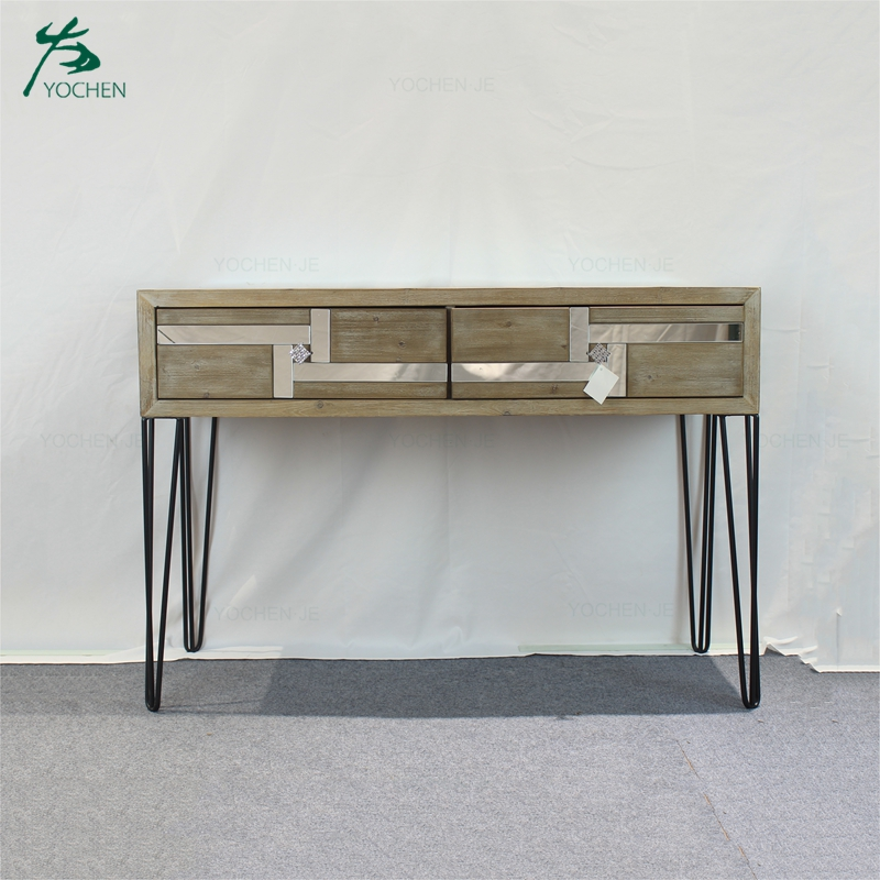 Reclaimed Wood Standing Desk Hallway Console Table