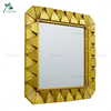 Home wall mounted decorative gold wall mirror