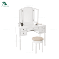 Modern white bedroom wood dressing table