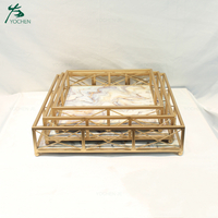 Decorative Unique Small Metal Gold Tray for Home