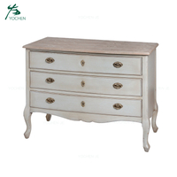 Bedroom Furniture French Three Drawer Chest of Drawers Wood