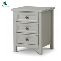 MDF classic wood modern bedside table nightstand