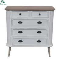 Wooden Chest with Pine legs Storage Cabinet 5 drawers