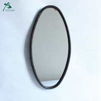 Antique decorative metal wall mirror