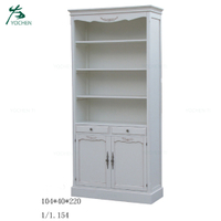 Eco Friendly White Wooden Furniture Cupboard Cabinet With Good Quality