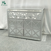 vintage cabinet handmade mirrored wooden cabinet for living room