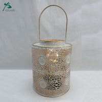 Hurricane metal decorative tealight candle holder
