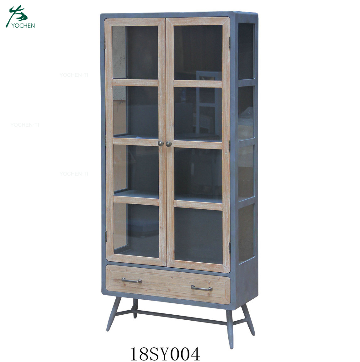 OEM customized low MOQ iron wooden industrial living room cupboard cheap wooden furniture