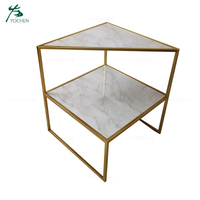 Hot sale coffee table metal frame small side table with two tiers
