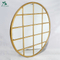 full wall gold framed large round wall mirror
