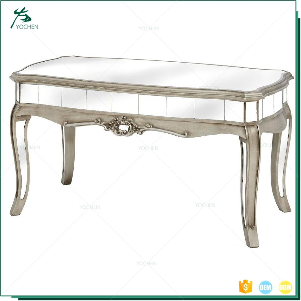 Home mirrored coffee table modern living room glass center table