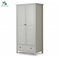Modern solid wood two door wardrobe bedroom furniture