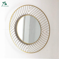indoor wall art metal frame decorative wall metal mirror
