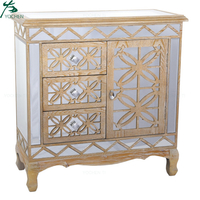 Accent Drawer Chest with Mirrored Drawer Fronts