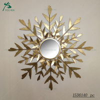 Home wall decorative irregular shaped metal mirror