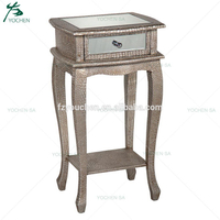 1 Drawer Antique PU Night Stand with 1 Shelf