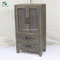 nice quality wood practical storage antique apothecary cabinet