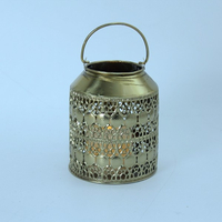candle holder tealight insert gold led lantern
