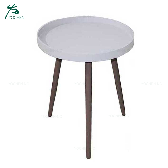 Modern Round Wooden Tea Table Coffee Table